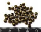 Шарики 4 мм бронза 50 шт/упак 011651 - 99 бусин