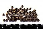 Шарики 3 мм старая медь 70 шт/упак 012947 - 99 бусин