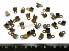 Концевики металлические нахлест 9 мм, цвет бронза 30 шт/упак 017290 - 99 бусин