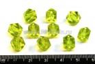 Бусина стеклянная кубик граненый  7,5 мм желто-зеленый 10 шт/упак 01730 - 99 бусин