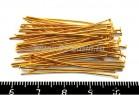 Пины гвоздики 40*0,8 мм золотистые 40 шт/упак 017510 - 99 бусин