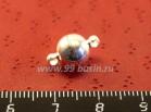 Замок магнитный шарик 13,5*8 мм, цвет светлое серебро 1 штука 018381 - 99 бусин