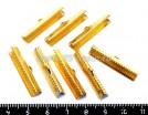 Концевик-книжка для ленты, тесьмы 30*6,5 мм, цвет золото, 8 шт/упак 018560 - 99 бусин