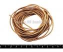 Шнурок натуральная кожа 5 метров, 2 мм, натуральный некрашенный, 5 метров/упак 019887 - 99 бусин