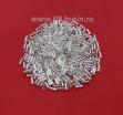 Стеклярус 4,5 мм гладкий Чехия Preciosa серебристый огонёк 78102 упаковка 10 грамм 04R78102 - 99 бусин