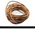 Шнурок натуральная кожа 5 метров, 2,5 мм, натуральный некрашенный, 5 метров/упак 050562 - 99 бусин
