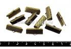 Концевик-книжка для ленты, тесьмы 20*7,5 мм, цвет бронза, 10 шт/упак 051181 - 99 бусин