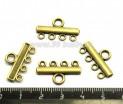 Коннектор  Плоский гладкий 5 петель 22*13 мм бронза 4 штуки/упаковка 052377 - 99 бусин