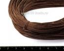 ОПТ Шнур вощёный 1 мм, цвет темно-коричневый, в пасме, 100% хлопок, не менее 72 метров 053347 - 99 бусин