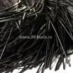 Канитель (французская проволока бульонка) гладкая 1 мм, цвет черный, пр-во Индия, упаковка 5 грамм (разные отрезки, общая длина около 3,2 метров) 053513 - 99 бусин