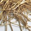 Канитель гладкая матовая 1 мм, цвет жёлтое золото MK-05, пр-во Индия, упаковка 5 грамм (разные отрезки, общая длина около 2,5 метров) 053514 - 99 бусин