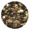 Мини пайетки плоские 3 мм Antique Gold Color Crystal finish № 389 Индия 5 грамм (около 1600 штук) 053689 - 99 бусин