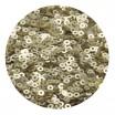 Пайетки плоские 4 мм Light Gold Velvet Finish №830 Индия 3 грамма (около 800 штук) 053830 - 99 бусин
