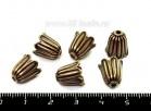 """Колпачок """"Колокольчик"""", 11*10 мм, внутренний диаметр 8 мм, цвет медь 6 штук/упаковка 053930 - 99 бусин"""