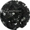 Мини пайетки плоские 4 мм Black Color № 4209 Индия 3 грамма (около 800 штук) 054157 - 99 бусин