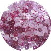 Мини пайетки плоские 4 мм Mulberry Color Crystal Finish  № 1478 Индия 3 грамма (около 800 штук) 054159 - 99 бусин