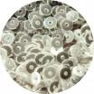 Мини пайетки плоские 2,5 мм № 331 Show White Colour Crystal Finish Sequins Индия 5 гр (около 2000 штук) 054265 - 99 бусин