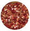 Мини пайетки плоские 4 мм Scarlet Red Color Crystal Finish № 840 Индия 3 грамма (около 800 штук) 054522 - 99 бусин