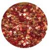 Мини пайетки плоские 3 мм Scarlet Red Color Crystal Finish № 840 Индия 3 грамма (около 1000 штук) 054525 - 99 бусин