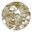 Мини пайетки плоские 2,5 мм Light Gold Transparent № 392 Индия 3 грамма (около 1200 штук) 054527 - 99 бусин
