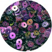 Мини пайетки плоские 3 мм Purple Color Crystal Finish Sequins № 328 Индия 5 грамм (около 1700 штук) 054743 - 99 бусин