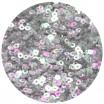 Мини пайетки плоские 4 мм Silver Color Rainbow Finish Sequins № 383 Индия 3 грамма (около 800 штук) 054745 - 99 бусин