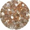 Мини пайетки плоские 3 мм Nougat Color Cristal Finish Sequins №1489 Индия 5 грамм (около 1600 штук) 054756 - 99 бусин