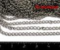ОПТ Цепочка 2,7*4,4 мм гнутое звено, цвет никель 10 метров/упаковка 055526 - 99 бусин