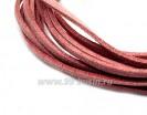 """Шнур искусственный """"Замша"""" 2,5*1 мм цвет розовый антик 3 отрезка по 1 метру/упаковка 055597 - 99 бусин"""