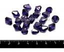 Бусина акрил граненая Биконус 10*9 мм фиолетовая прозрачная 20 штук/упаковка 055638 - 99 бусин