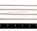 Цепочка изящная 1,7*2,5 мм цвет яркая медь 1 метр/упак 055713 - 99 бусин