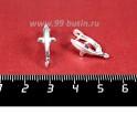 Швензы ювелирные Королевская Лилия 19*8 мм, посеребренные, гипоалергенные, производство Россия 1 пара 056223 - 99 бусин