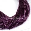 Трунцал (витая канитель) 1,5 мм, цвет фиолетовый MN-16, пр-во Индия, упаковка 5 грамм (разные отрезки, общая длина около 2,7 метров) 056246 - 99 бусин