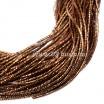 Трунцал (витая канитель) 1,5 мм, цвет коньячный MN-26, пр-во Индия, упаковка 5 грамм (разные отрезки, общая длина около 2,7 метров) 056249 - 99 бусин