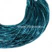 Трунцал (витая канитель) 1.5 мм, цвет MN-20 морская волна, пр-во Индия, упаковка 5 грамм (разные отрезки, общая длина около 2,5 метров) 056253 - 99 бусин