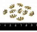 Коннектор Веточка листьев 2 петли 15*10*2 мм цвет античное золото 10 штук/упаковка 056582 - 99 бусин