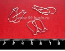 Швензы Петли 25 мм цвет светлое серебро 3 пары/упаковка 056663 - 99 бусин