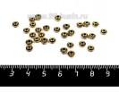Разделитель диск, декор ободки, 5*3 мм, цвет античное золото 30 шт/упак 056942 - 99 бусин