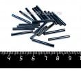 Стеклярус крупный 20*2,5 мм гладкий, цвет серо-синий стальной, 20 штук/упаковка 057056 - 99 бусин