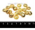 Шапочка для бусин Пион 12*6 мм, цвет золото 20 штук/упаковка 057164 - 99 бусин