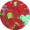 Пайетки 10 мм смещенное отверстие, цвет красный хамелеон 15 грамм пр-во Китай 057184 - 99 бусин