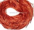 Трунцал (витая канитель) ОПТ 1,5 мм цвет MN-11 пылкий оранжевый 50 граммов/упаковка Индия 057340 - 99 бусин