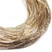 Трунцал (витая канитель)  1,5 мм, цвет MN-02 светлое золото, Индия, упаковка 5 грамм (разные отрезки, общая длина около 2,8 метров) 057425 - 99 бусин