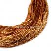 Трунцал (витая канитель) 1,5 мм, цвет MN-10 жёлто-оранжевый, Индия, упаковка 5 грамм (разные отрезки, общая длина около 3 метров) 057427 - 99 бусин