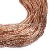 Трунцал (витая канитель) 1,5 мм, цвет MN-05 розовое золото, Индия, упаковка 5 грамм (разные отрезки, общая длина около 2,9 метров) 057428 - 99 бусин
