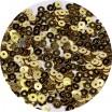 Мини пайетки плоские 4 мм Dark Gold Color № 828 Индия 5 грамм (около 1600 штук) 057920 - 99 бусин