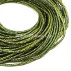 Канитель FANCY 1,5 мм гладкая упругая, цвет golden/green (золото/зелёный) 5 граммов (около 1,7 метров) 058081 - 99 бусин