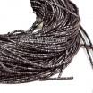Трунцал (витая канитель) 1,5 мм, цвет MN-23 графит, Индия, упаковка 5 грамм (разные отрезки, общая длина около 3,1 метров) 058086 - 99 бусин