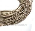 Канитель (трунцал) витая с насечкой 2 мм, цвет светлая бронза, пр-во Индия, упаковка 5 грамм (разные отрезки, общая длина около 1,5 метров) 058121 - 99 бусин