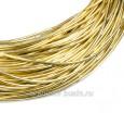 Канитель мягкая глянцевая 1 мм, цвет MD-03 светлое золото Индия, упаковка 5 граммов (разные отрезки, общая длина около 2,8 метров) 058303 - 99 бусин